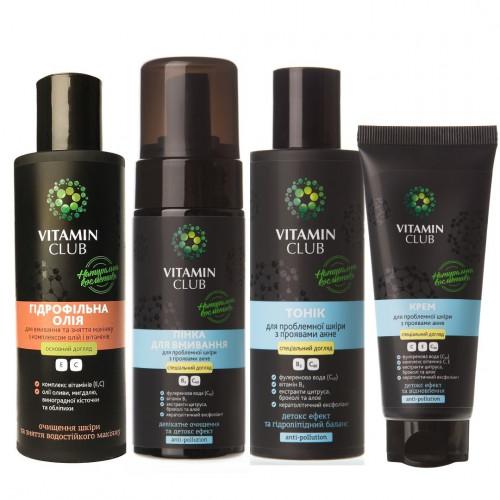 СТОП АКНЕ комплексний набір засобів для догляду за проблемною шкірою обличчя
