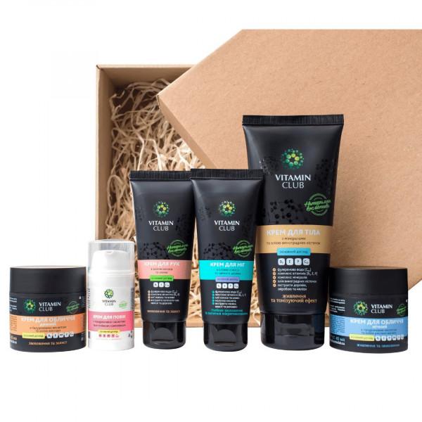 ІДЕАЛЬНА ГЛАДКІСТЬ. Набір засобів для шкіри обличчя і тіла з гіалуроновою кислотою, вітамінами та оліями - фото на Vitaminclub